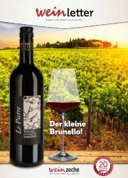 Weinzeche Weinletter 5_2019 – Die Kunst des Genießens