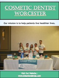 Cosmetic Dentist Worcester