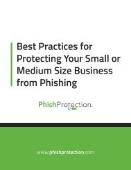 Best Practices for Protecting Your Small or Medium Size Business from Phishing