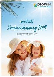 Das proWIN Sommershopping 01.05. bis 15.09.2019