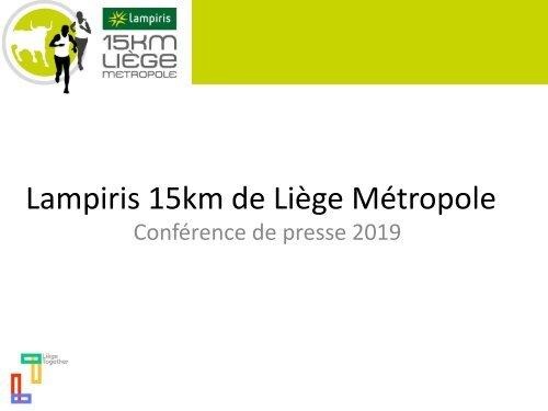 Présentation 15 km de Liège - édition 2019