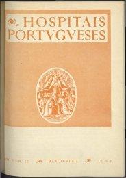 Hospitais Portugueses ANO V n.º 22 março-abril 1953