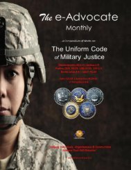 Uniform Code of Military Justice (The)