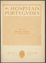 Hospitais Portugueses ANO VI n.º 27 janeiro 1954