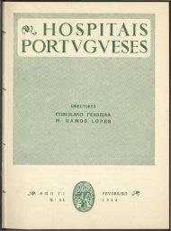 Hospitais Portugueses ANO VI n.º 28 fevereiro 1954