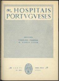 Hospitais Portugueses ANO VI n.º 30-31 abril-maio 1954