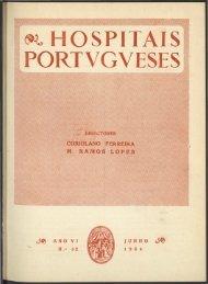 Hospitais Portugueses ANO VI n.º 32 junho 1954