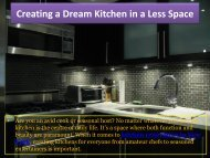Creating a Dream Kitchen in a Less Space