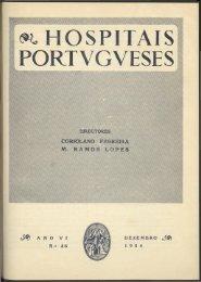 Hospitais Portugueses ANO VI n.º 36 dezembro 1954