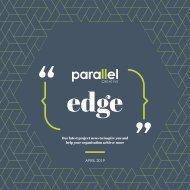 Parallel Edge Newsletter - April 2019
