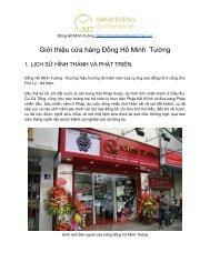 Giới thiệu về cửa hàng Đồng Hồ Minh  Tường