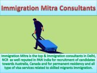 Immigration Consultants in Noida and Delhi