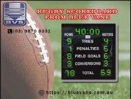 Buy Rugby Scoreboard from Blue Vane - Ringwood, Australia