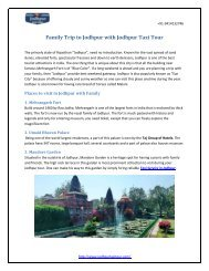 Family Trip to Jodhpur with Jodhpur Taxi Tour