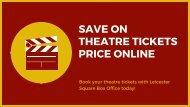 Theatre Tickets - LSBO