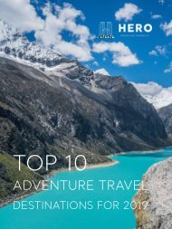 2019 Adventure Travel Guide - Hero Adventure Products