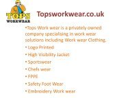 T shirt printing and Embroidery Workwear in Watford London UK