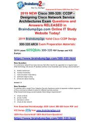 [2019-April-New]Braindump2go New 300-320 PDF Dumps Free Share