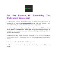 The Key Essence Of Streamlining Test Environment Management