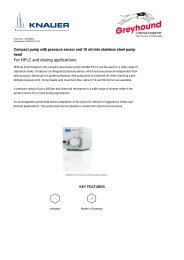 Knauer HPLC Pump APG20EA Technical  Specifications