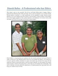 Dinesh Bafna - A Professional who has Ethics