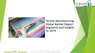 Textile Manufacturing Global Market Report 2019