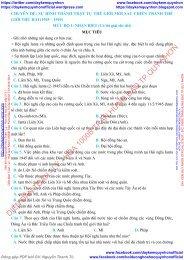 1225 câu hỏi trắc nghiệm môn Lịch Sử chọn lọc theo mức độ (NB - TH - VD - VDC)
