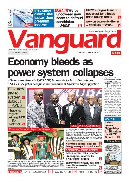 29042019 - Economy bleeds as power system collapses