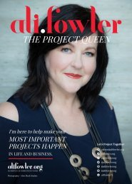 Ali Fowler  - The Project Queen Magazine