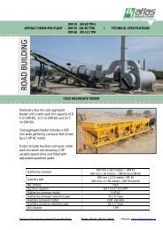 Specifications drum mix plant - domestic