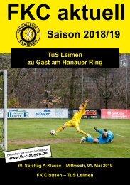 FKC Aktuell - 30. Spieltag - Saison 2018/2019