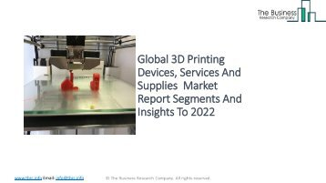 Global 3D Printing Devices, Services And Supplies Market Report Insights 2022