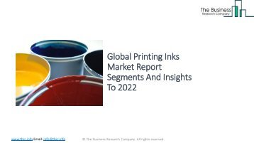Global Printing Inks Market Report Insights 2022