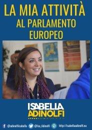 La mia attività al Parlamento europeo