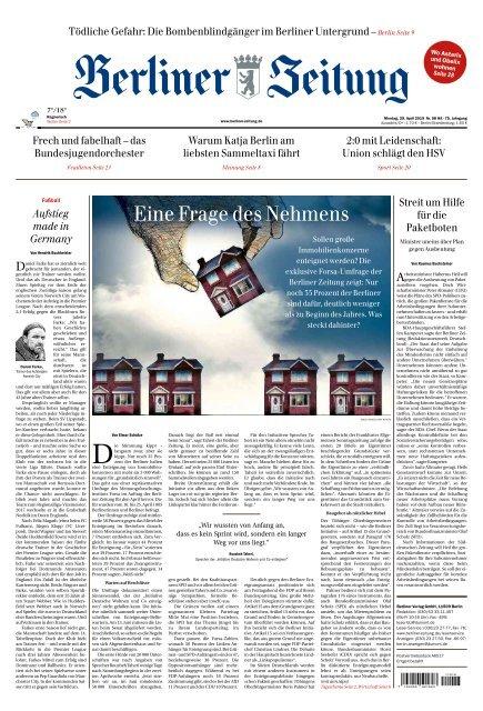 Berliner Zeitung 29042019