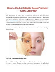 How to Find A Reliable Botox Provider - Anew Laser MD