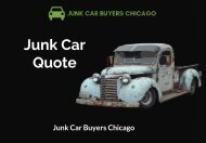 Find Junk Car Quote | Junk Car Buyers Chicago