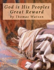 God is His Peoples Great Reward by Thomas Watson 1620-1686