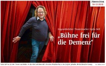 Bühne frei für die Demenz - Ungewöhnlicher Theatermacher Erpho Bell