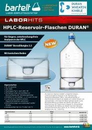 DWK DURAN HPLC Reservoir Flaschen bei Bartelt