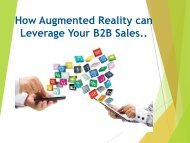 How Augmented Reality can Leverage Your B2B Sales
