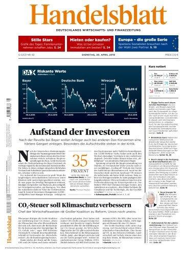 Handelsblatt 30.04.2019
