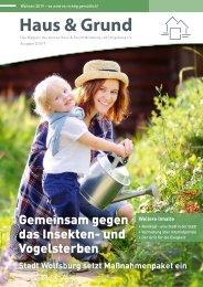 Haus & Grund Wolfsburg und Umgebung e.V. Ausgabe 2/2019 April 2019