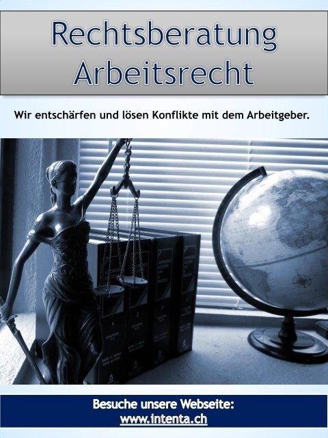 Rechtsberatung Arbeitsrecht   Call us 625555544   intenta.ch