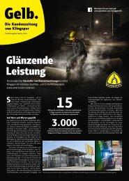 Gelb. Die Kundenzeitung von Klingspor - Sonderausgabe zur Bauma|2019