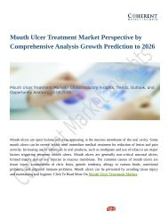 Mouth Ulcer Treatment Market Perspective by Comprehensive Analysis Growth Prediction to 2026