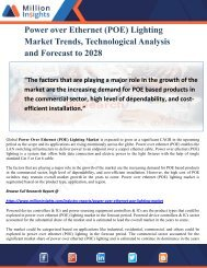 Power over Ethernet (POE) Lighting Market Trends, Technological Analysis and Forecast to 2028