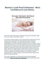 Women's Leak Proof Underwear - More Confidence & Less Stress.