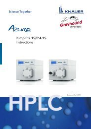 KNAUER HPLC Pump P2.1S-P4.1S Manual