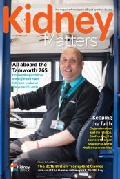 Kidney Matters - Issue 5, Spring 2019